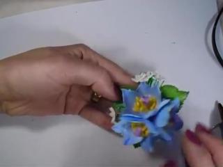 МК . Как сделать Прострел луговой из Иранского фоамирана. (Заколки для девочек)