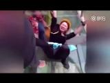Страх перед высотой на стеклянном мосту в Китае (6 sec)