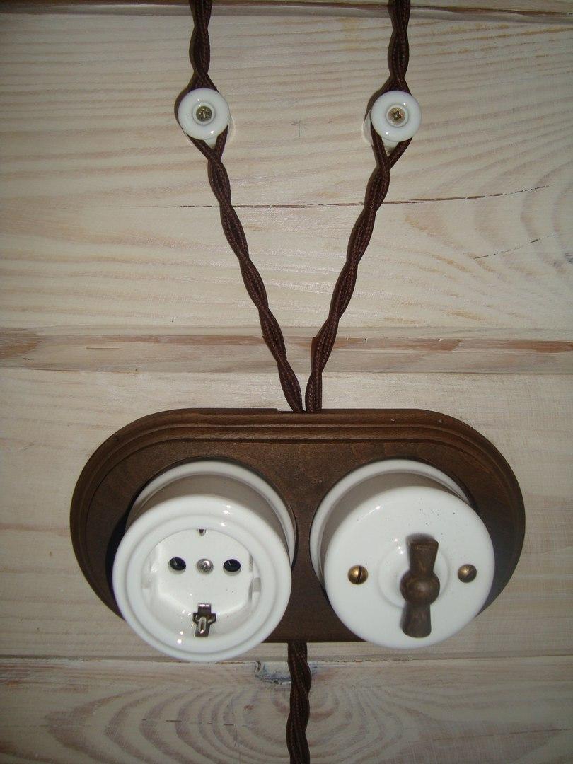 Монтаж ретро проводки в деревянном доме цена в Москве, Московской области