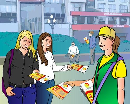 Распространение листовок по почтовым в Москве, Московской области