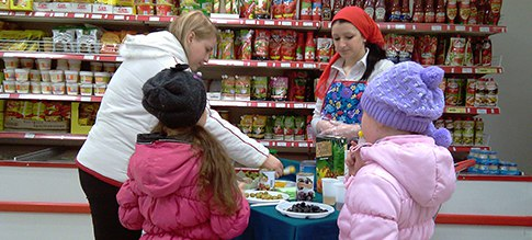 Проведение дегустаций в магазинах в Москве, Московской области