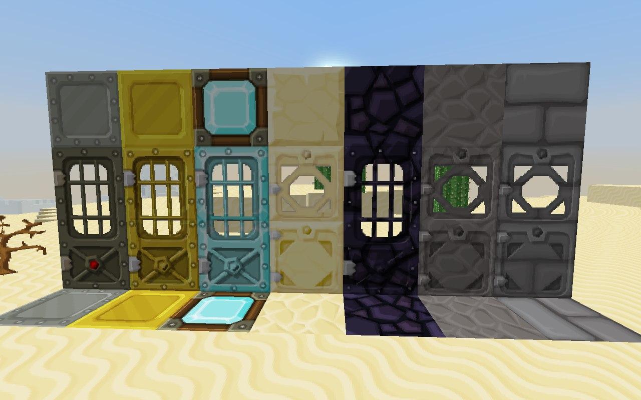 Minecraft как сделать механическую дверь фото 610