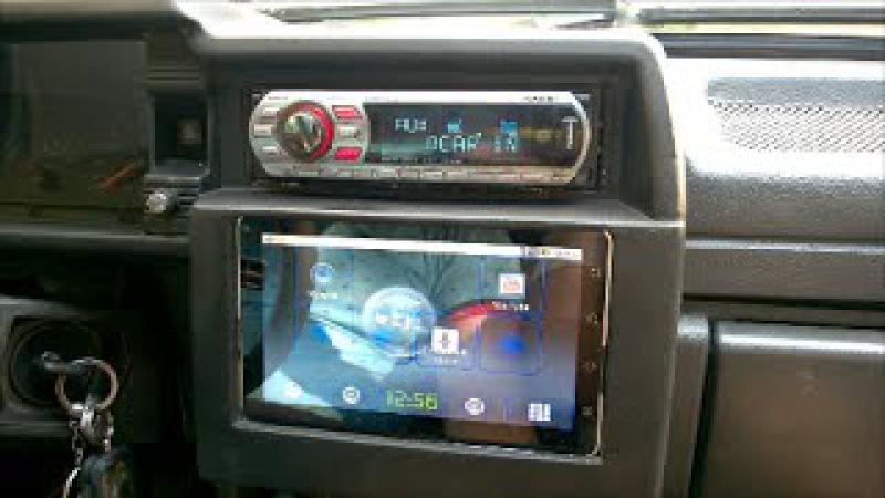 Переделываем планшет для использования в автомобиле. / Installing the tablet in the car.
