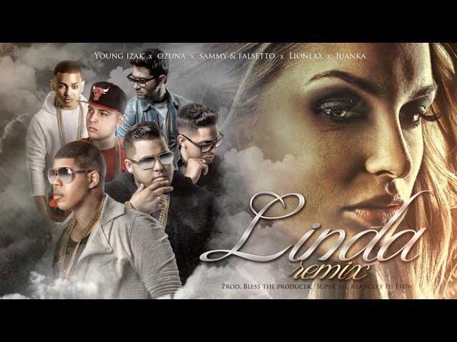 Sammy Falsetto - Linda (Remix) (ft. Young Izak, Ozuna, Juanka, Lionexx) (Lyric Video)