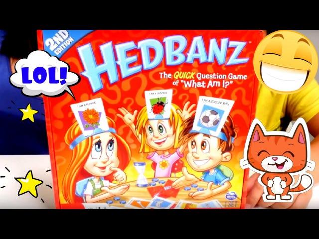HEDBANZ game for kids! Fun games for kids: Headbanz challenge in kid's videos