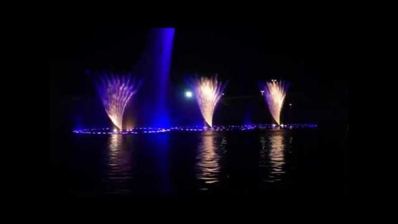 Поющие фонтаны в Олимпийском парке в Адлере 13.08.2016г.