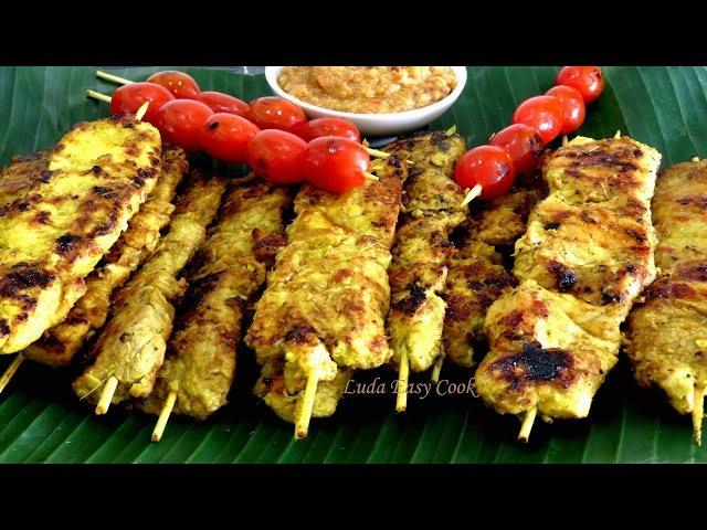 ВКУСНЫЕ Шашлычки из курицы и свинины Сатэ. Тайская и индонезийская кухня LudaEasyCook