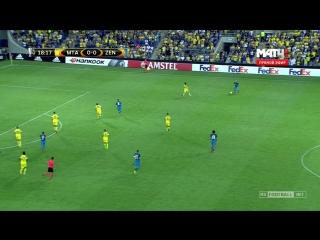Лига Европы 2016-17 Группа D 1 тур Маккаби Тель Авив Израиль - Зенит Россия 1 тайм