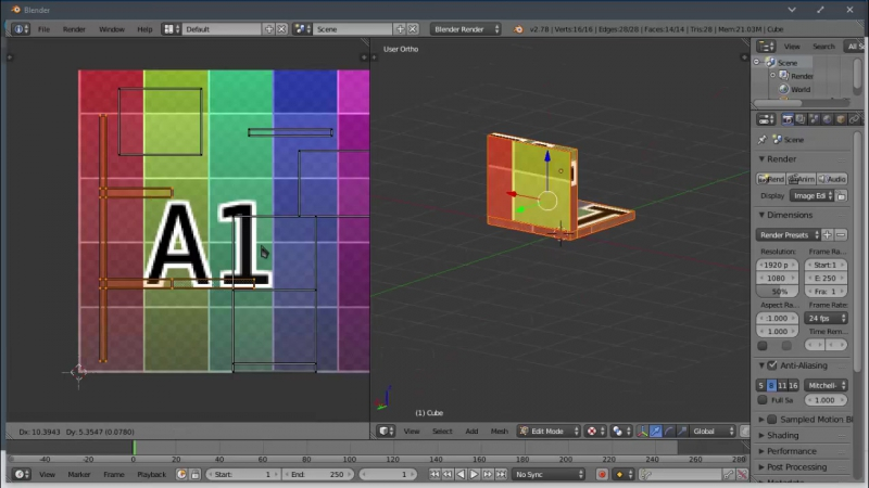 Rapid modeling laptop ixel arte/Делаю LowPoly модель с текстурой PixelArt