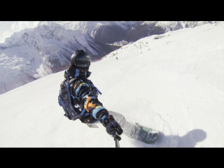 Как я учился кататься на сноуборде!