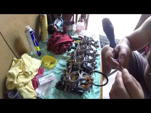 Yamaha R1 98-01 Обслуживание и тюнинг карбюраторов (Carbs maintenance tuning Airbox tuning)