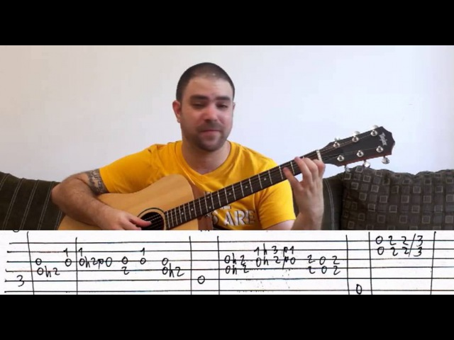 Tutorial Rainbow Eyes Intro (Rainbow) - w TAB (Guitar Lesson)