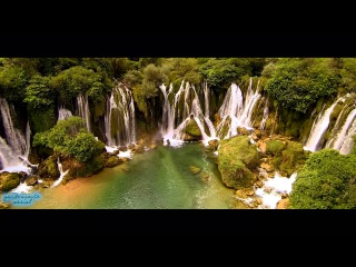 Flying over Kravice Waterfalls (Bosnia & Herzegovina)