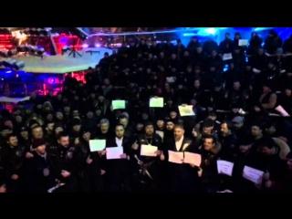 Ночные волки провели масштабный  флешмоб в поддержку Кадырова