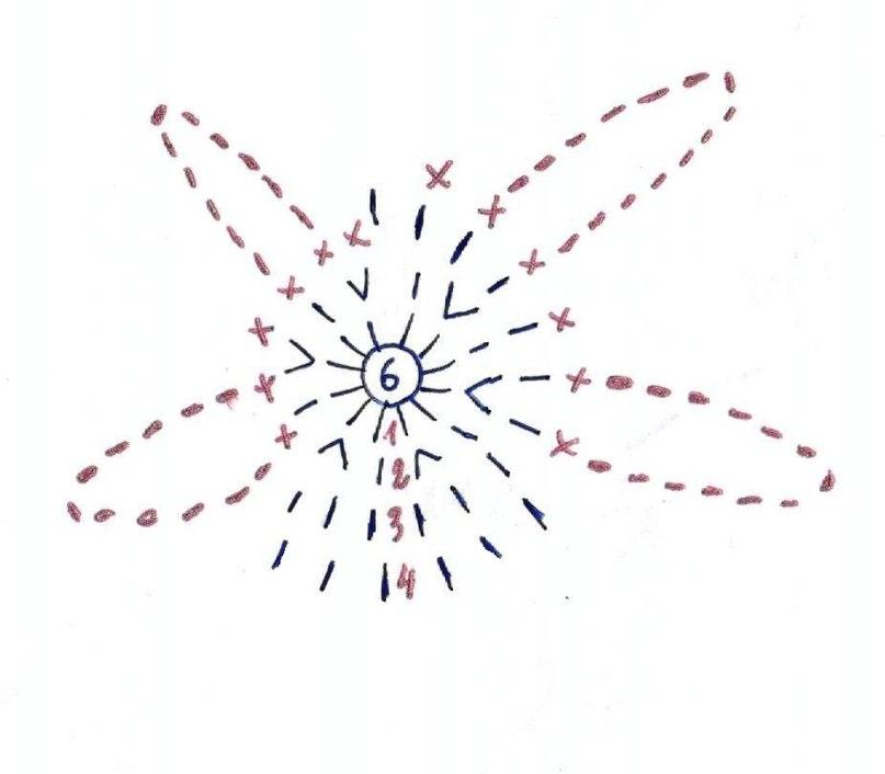 """钩针教程:女孩的""""花"""" - maomao - 我随心动"""