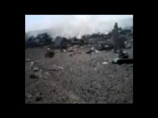 Видео с места катастрофы самолета А321 на Синае.Снято через два часа после крушения лайнера
