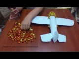Самолет из конфет. Подарок своими руками. Airplane of sweets
