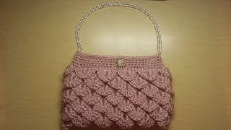 Crochet How To Crochet crocodile stitch clutch purse Tutorial 5 LEARN CROCHET DYI