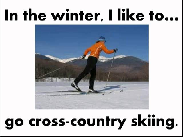 Learn English Winter Activities/Sports