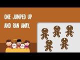 5 Gingerbread Men  Song Lyrics Video  Kids Christmas Songs  The Kiboomers
