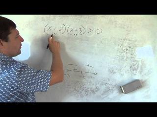 Алгебра 9 класс. 29 сентября. неравенства метод интервалов #1