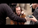 GRANDPA Angus Young from AC DC leaving his hotel and Paris