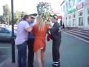Задержание пьяной российской сосалки за рулем в Минске Я из России, чё за ху..ня мне всё можно!-