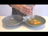 Как быстро и просто отделить Яичный желток от Белка