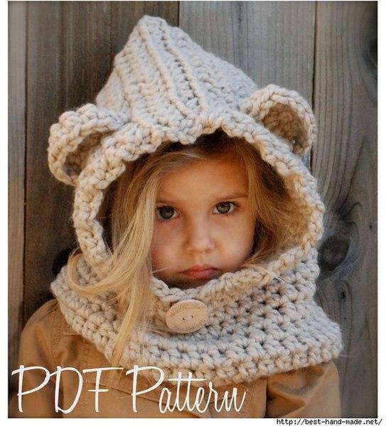 Красивые и интересные шапочка и снуд для малышек… (6 фото)