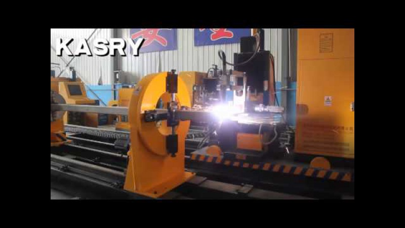 Kasry cnc 8 axis rectangular pipe cutting bevelling