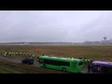 Взлет Ту-154 из аэропорта Минска