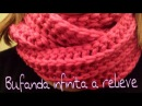Bufanda Infinita en Relieve English Subtitels I Cucaditas de saluta