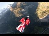 Вингсьют Прыжки со скалы в костюме-крыле Супер зрелище Экстремальный спорт