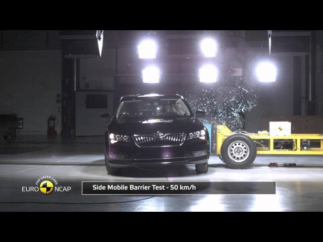 Euro NCAP Crash Test of Skoda Superb 2015