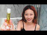 Korean Model Hoyeon Jungs Steps for Perfect Skin and a Two-Tone Lip  Beauty Secrets  Vogue