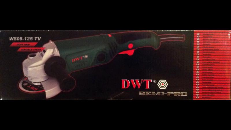 УШМ/Болгарка DWT WS08-125 TV Обзор(Углошлифовальная Машина DWT/ДВТ 125) Ч.2