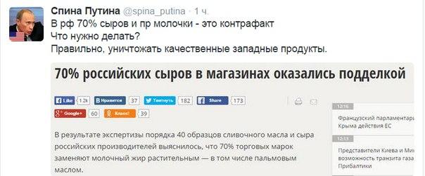 В РФ, помимо уничтожения санкционной продукции, хотят еще и наказывать за ее реализацию - Цензор.НЕТ 315