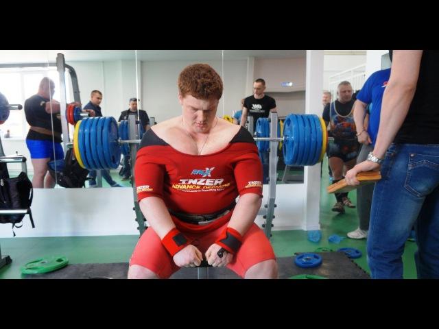 Евгений Баранов жим лежа в экипировке 270 кг. Открытый Кубок Евразии WPA/AWPA. 2016 год