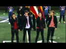 Big Time Rush singing the National Anthem at The Dallas Cowboys Game