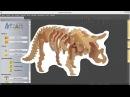 04 1 ArtCAM Создание редактирование экспорт импорт векторов трицератопс
