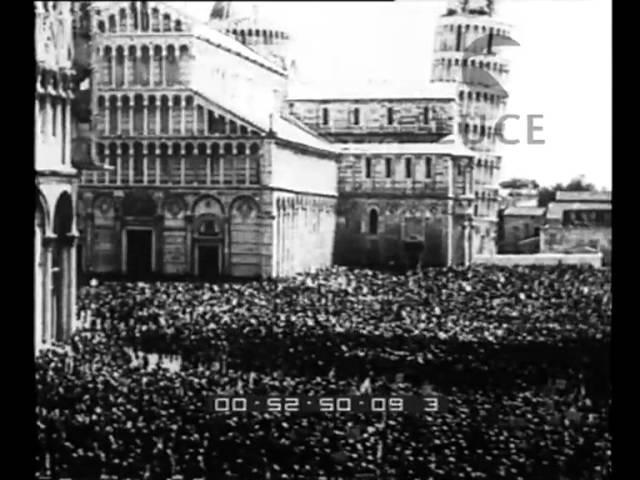 Starace/Duce e Popolo. Nella Piazza dei Miracoli il popolo di Pisa adunato dal Segretario del Partito