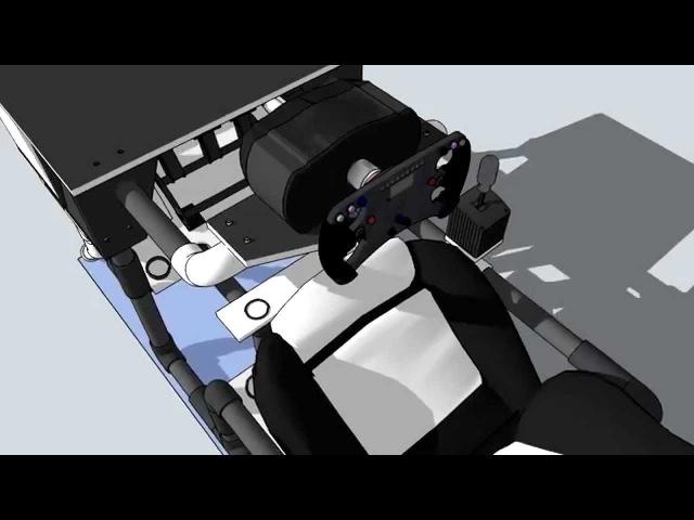 Polymorphic PVC cockpit for SimRacing (15)