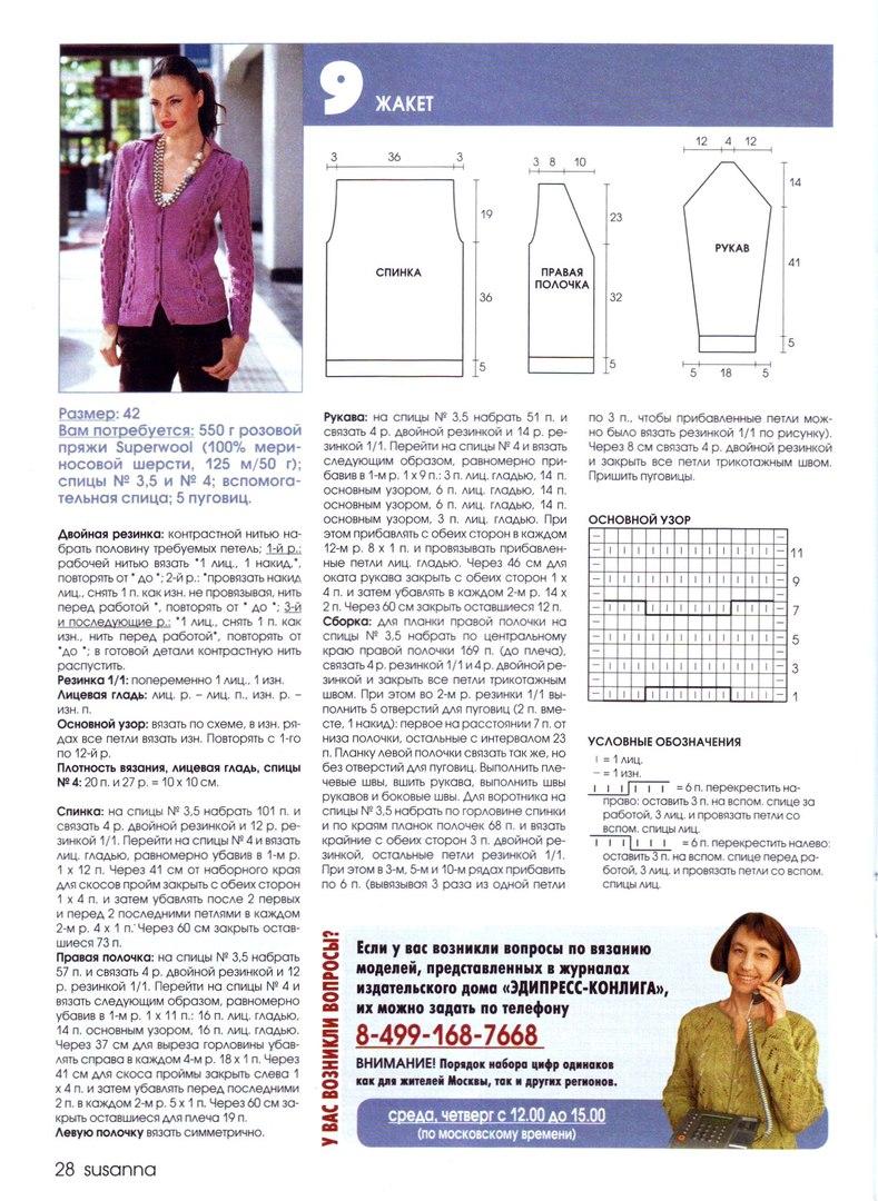 Кофта спицами для женщин на пуговицах схема