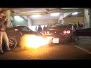 JDM Car Meet in Austria - 2JZ Supra Anti Lag FLAMES, Supercharged LS2 Corvette Burnout much more!