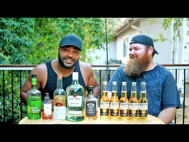 Black Guy vs Beard Man 5 shots to 5 beers