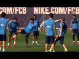 FC Barcelona training session: Iniesta and Sergi Roberto receive all-clear