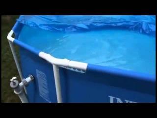 Каркасный бассейн Intex и насос-фильтр Metal Frame Pool купить в интернет магазине простокуп.