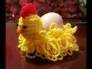 Gallina alluncinetto portauovo - Gadget Pasqua - gallina en crochet
