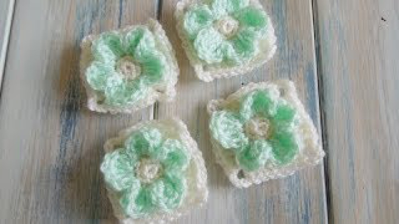 Crochet How To Crochet an Embossed Flower Granny Square Yarn Scrap Friday