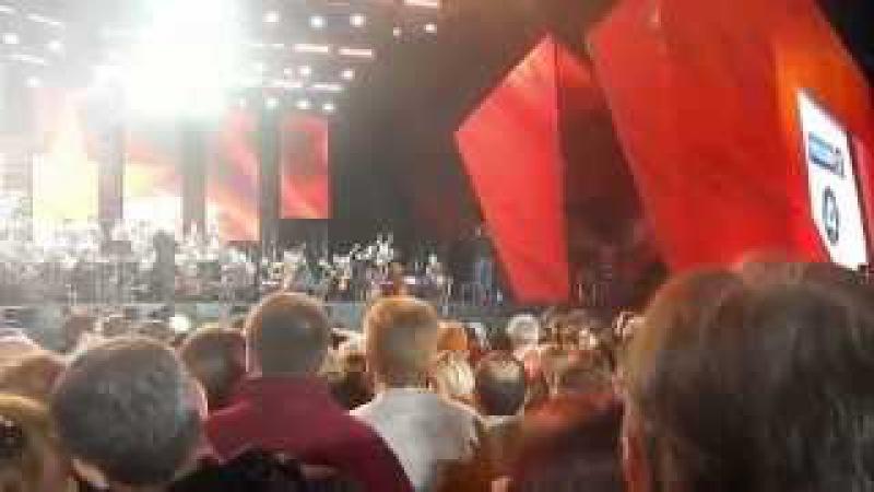 Дмитрий Хворостовский потрясающий концерт на ВДНХ 9 мая 2015 года и праздничный са...